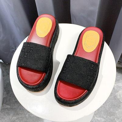 Women Slippers Word Drag Women's Shoes Sandals High Heels Casual