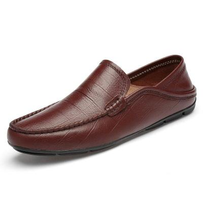Man Boat Shoes Summer Male Leather Shoe Slippers Men's Loafers Moccasins Genuine Leather Casual Footwear Brand