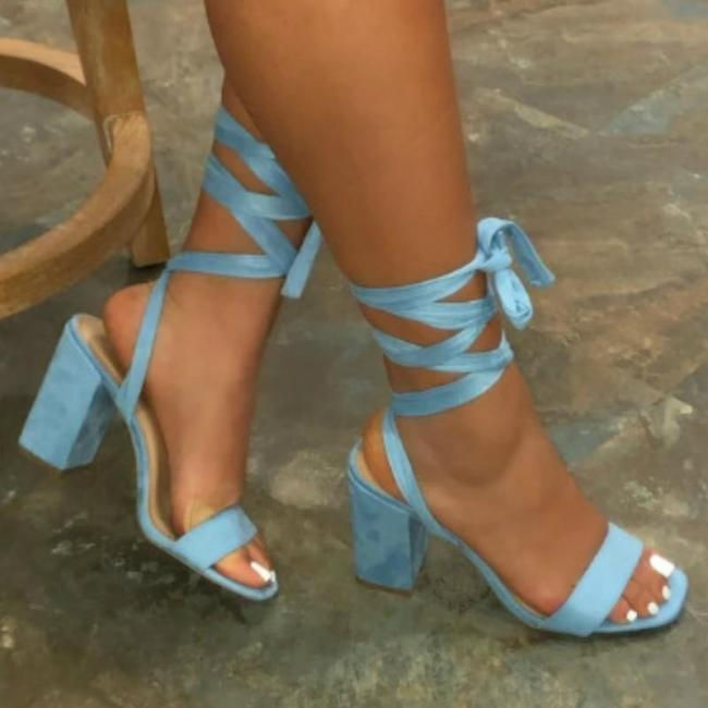 Summer Women Ankle Strap Sandals Gladiator Platform Square Mid Heel Peep Toe Fashion