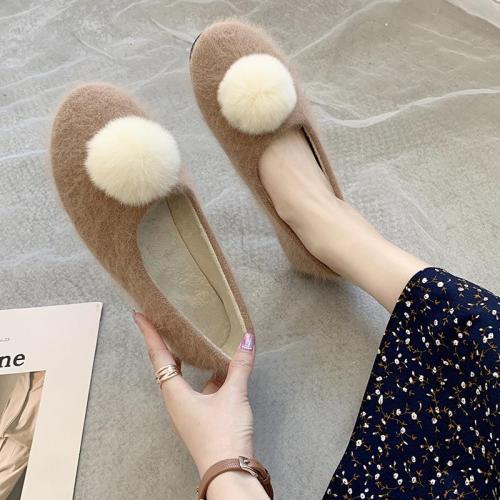 Warm Women's Shoes New Fur Shoes Cozy Flats for Women