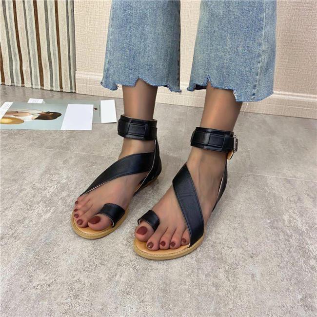 Fashion Sandal Non-slip Basic Flats Sandals Heel Buckle Women Sandals Shoes
