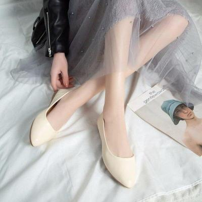 Slip on Shallow Women Shoes Woman Flats Solid Leather Casual Shoes Pointed Toe Low Heels Office Ladies Shoes