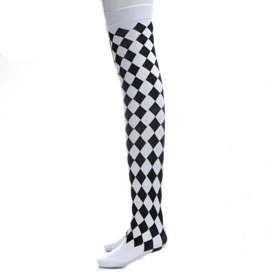 Clown Halloween Costume Sexy Stockings for Women Over Knee High Stockings Pantyhose