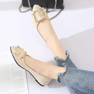 Metal Buckle Ladies Flats Female Casual Shoes Flats Shallow Women Shoes Woman Loafers Shoes