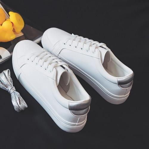 Woman Female Lace Up Shoes Women Round Toe Flats Ladies Solid Casual Ladies Sneakers Women's Spring Footwear