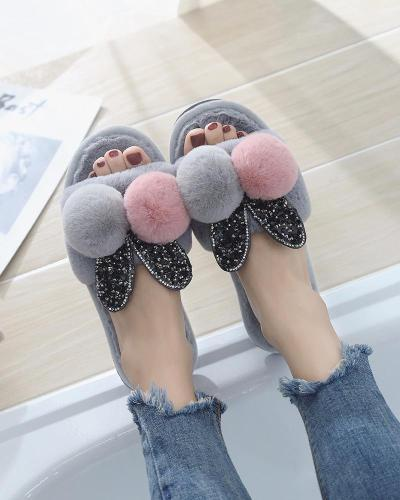 Soft Flats Women's Shoes Cotton Slippers Women's Home