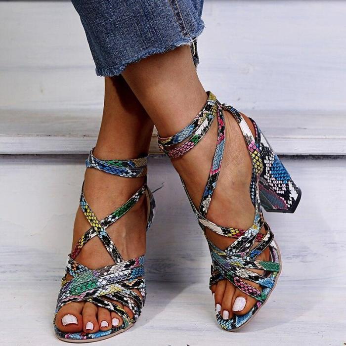 Ladies Footwear Woman Casual Sandalias Summer Women Gladiator Sandals Ankle Strap Vintage