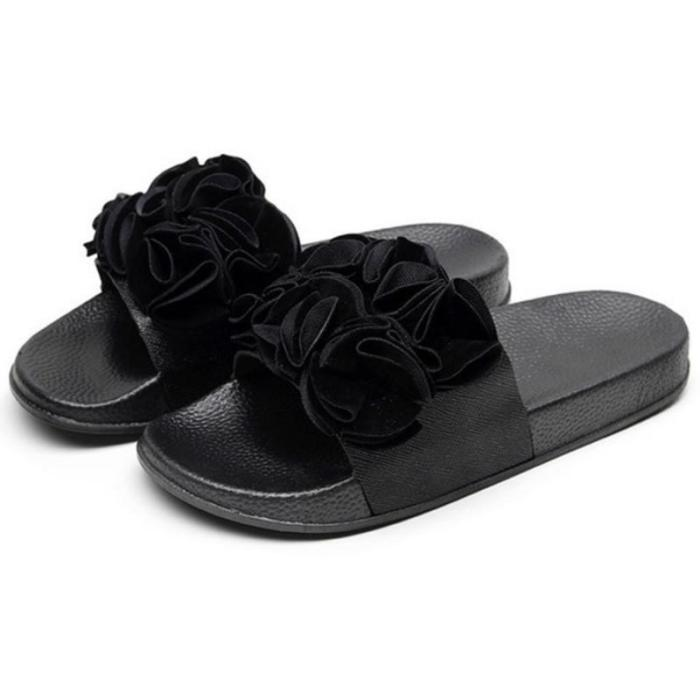 Summer Women Sandals Flat Heel Platform Flower Casual Slippers Beach Slides Outdoor