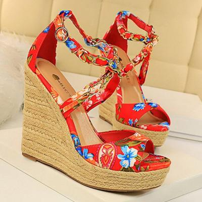 Fashion Summer Platform Wedge High Heels Sandals Ankle Buckle Wedges Shoes