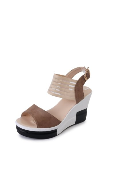 High-heeled Sandals Summer New Roman Women's Slope Heeled Sandals Decoration Women's Shoes