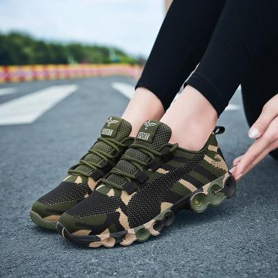 Camouflage Fashion Sneakers Women Breathable Casual Shoes Men Army Green Trainers