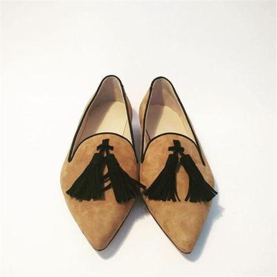 Women's Fashion Daily Tassel Pointed Toe Flats