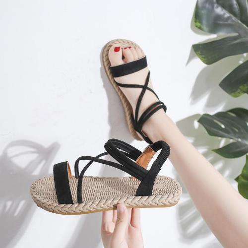 Summer New Women's Sandals Flat Loose Belt Beach Shoes Comfortable Sandals Women
