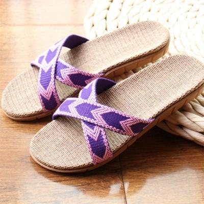Summer Slippers Women Hemp Slides Female Slip-On Flat Women's Comfortable Shoes Ladies Casual Footwear