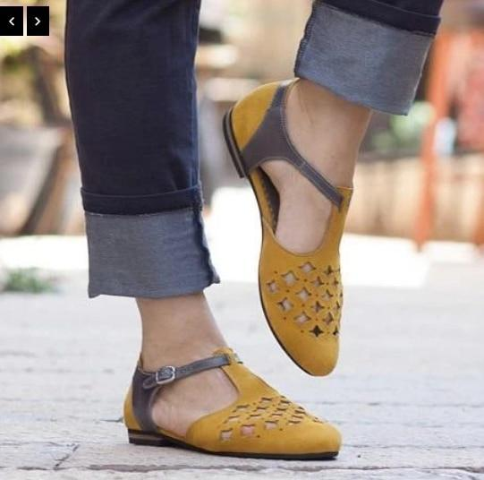 Women Shoes Sandals Summer Flat Shoes Buckle PU Leather Gladiator Luxury Shoes Women Designers
