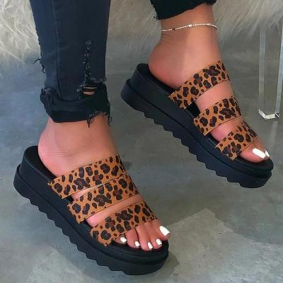 Platform Slip-On Flip Flop Thread Casual Casual Slippers