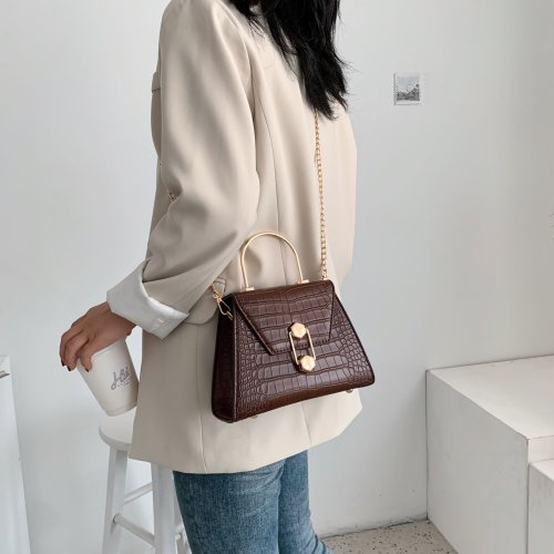 Stone Pattern PU Leather Crossbody Bags For Women Lady Shoulder Messenger Bag Handbags