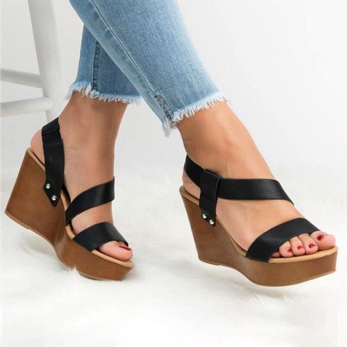 High Heels Platform Sandals Women Peep Toe Strap Gladiator Shoes Woman Thick Bottom Summer Wedge Sandals