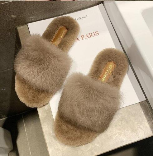 Warm Fur Women Home Shoes Slippers Casual Slippers