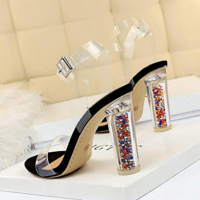 Women High Heels Sandals Transparent Summer Shoes Heels Red Pumps