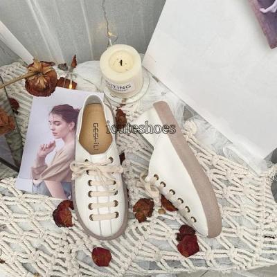 Shoe Women 2020 New Women's Shoes Casual Shoes Women Wear Lace-up Flat Shoes Women