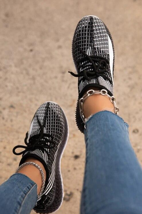 Woman Sneakers Women Summer New Fashion Outdoor Lace Up Casual Shoes Women's Mesh Breathable Sneakers