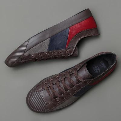 New Men's Casual Buckle Shoes Fashion Lazy Loafer Shoes Breathable Men's Vulcanized Shoes