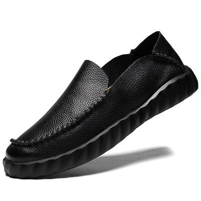 Man Leather Shoes Loafers Slip on Summer Autumn Men's Shoe Breathable Genuine Leather Male Boat Footwear Soft