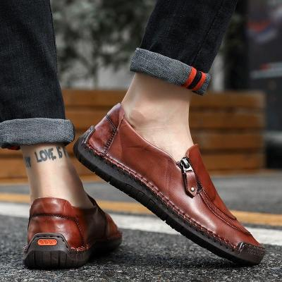 Men Shoes Casual Genuine Leather Mens Loafers Handmade Slip on Driving Shoes Size