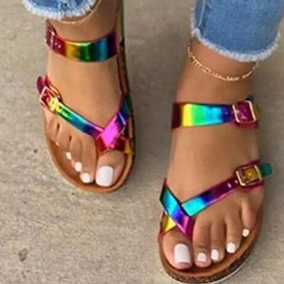 Women Summer Shoes Women Flat Sandals Beach Shoes Female
