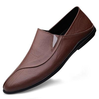 Man Moccasins Genuine Leather Men's Shoes Slip on Flats Casual Loafers Male Shoe Breathable Leisure Footwear Soft