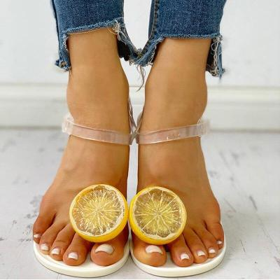 2020 Summer New Woman's Cartoon Outdoor Flat Sandals Open Toe Beach Shoes Fashion Sexy Plus Size 40