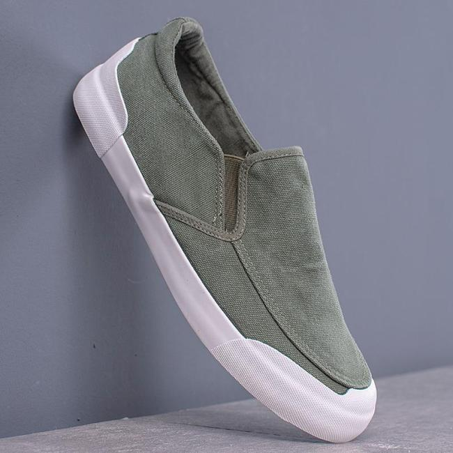 Fashion Men's Canvas Loafer Shoes Summer Slip on Vulcanized Shoes Spring/Autumn Men Colorful Sneakers Simple Shoes