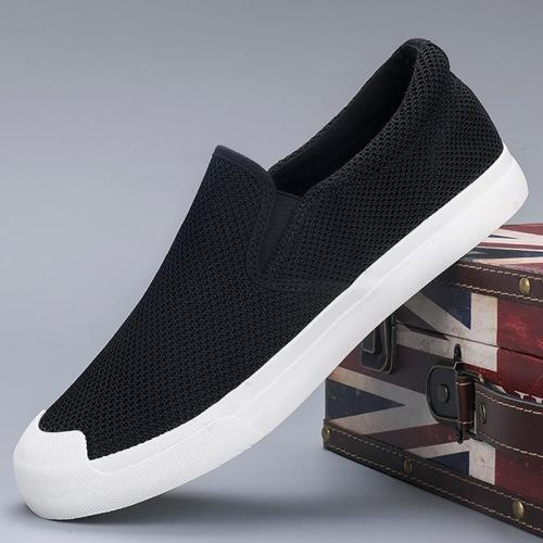 Men's Casual Shoes Fashion Men's Comfortable Slip-on Light Shoes Breathable Men's Vulcanized Shoes Loafers
