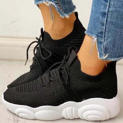 Non-Slip Knitted Breathable Lace-Up Yeezy Sneakers
