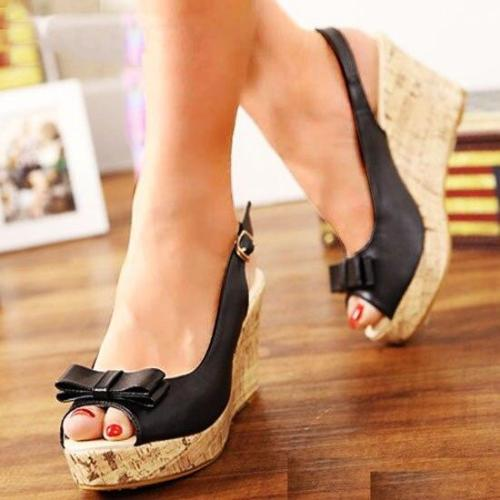 Women Wedges Sandals Summer Platform Ankle Strap Peep Toe High Heel Shoes Female Pumps Ladies Sandals