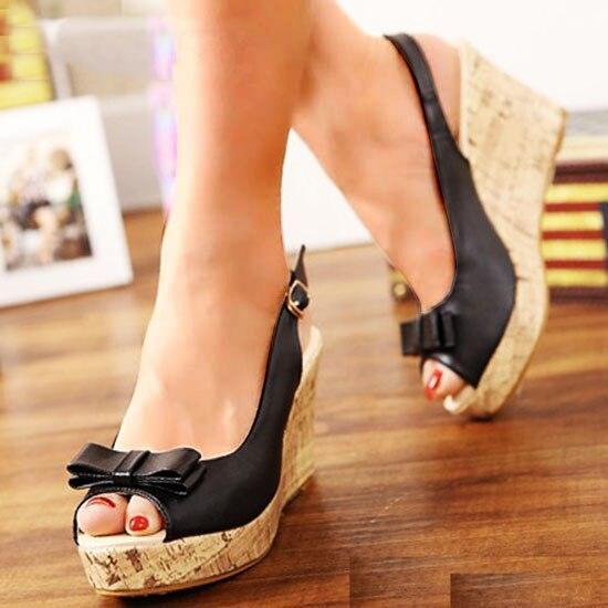 Women Wedges Sandals Summer Platform Ankle Strap Peep Toe High Heel Shoes Female Pumps Ladies Sandals