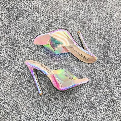 Sexy Slippers Open Toe Thin High Heels Summer Women Party Shoes Ladies Stiletto Sandals