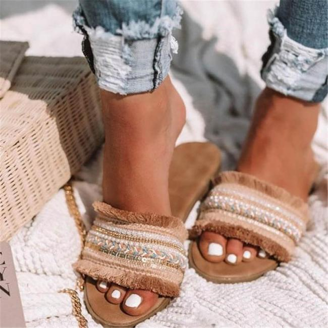 Women Slippers Summer New Rome Retro Sandals Flat Casual Shoes Female Slip on Slides Woman
