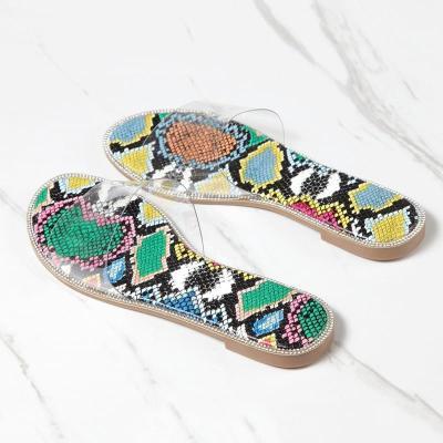 Luxury Beach Slides Women Flats Summer Sandals Shales Transparent Slippers Stripper Outdoor Shoes