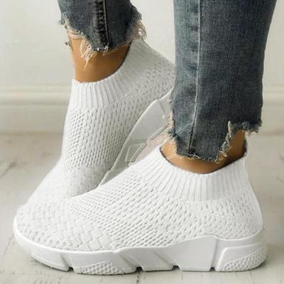 Women Shoes Sneakers Women Shoes Breathable Flyknit White Sneakers