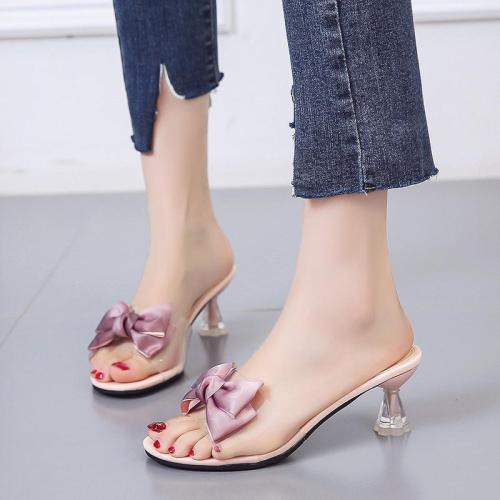 Heels Fashion Women's Sandals Summer New Bow High Heel Cool Women's Shoes