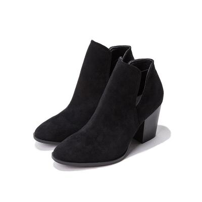 Chic Women Boots High Shoes Woman Spuare Toe Heel Ankle Boots Female