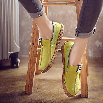 Slip On Women Loafers Fashion Summer Women Flats Plush Size Moccasins Round Toe Flock Casual Shoes