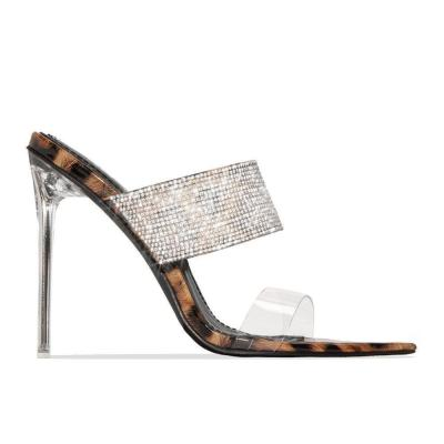 Stiletto Heel Flip Flop Slip-On Print Summer Casual Slippers