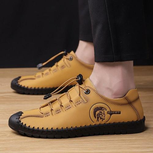 Casual Shoes Leather Loafers Comfortable Men's Shoes Quality Split Leather Flat Moccasins Sneakers