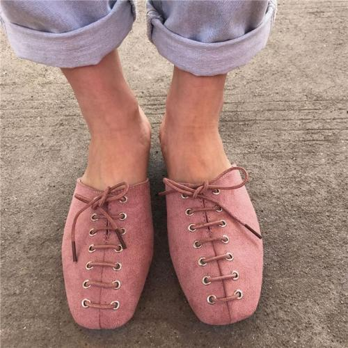 Women's Fashion Lace-Up Flat Heel  Slippers
