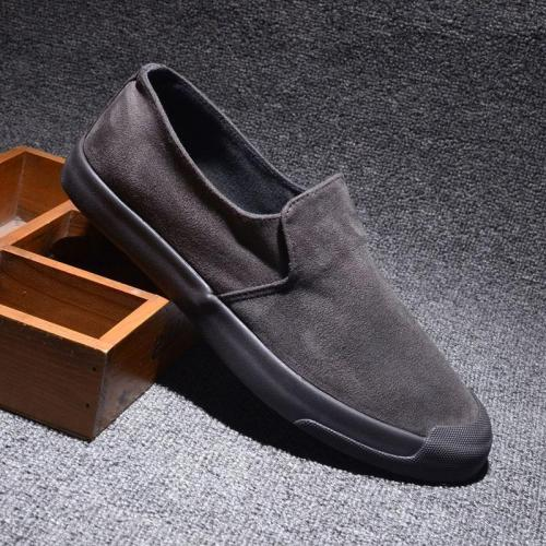 Brand New Breathable Men's Moccasins Shoes Korean Fashion Men's Flannelette Casual Shoes Flat Lazy Sneakers Men Loafers