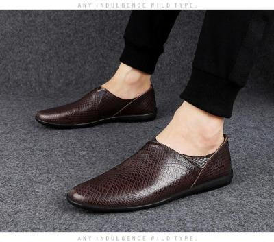 Man Loafers Breathable Men's Leather Shoes Slip-on Summer Male Moccasins Design Casual Footwear Black Brown New