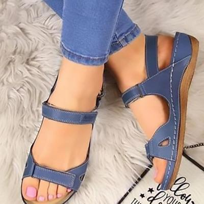 Women's Sandals Summer Shoes Woman Outdoor Cross Sandals Soft Bottom Comfortable Platform Wedge Slides Beach Shoes